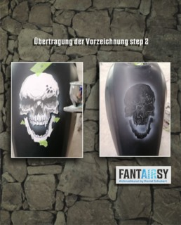 Tank airbrush step by step