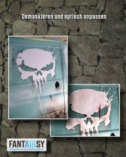 Rostlook-ratlook-auto-usedlook-skull-schädel-airbrush
